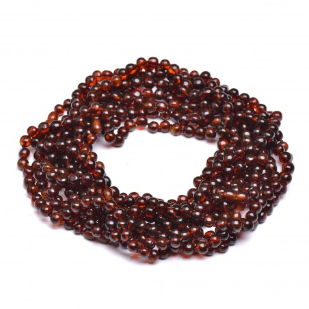 10 Cognac Amber Necklaces for Adult - Amber Wholesale - 100% Genuine Amber Beads