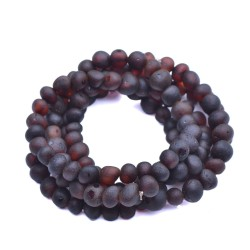 5 Raw Baltic Amber Bracelets - Cherry Amber Unisex Bracelets wholesale - amber wholesale - Genuine Baltic Amber Beads