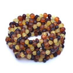 10 Colorful Raw Amber Bracelets - Unisex Amber Bracelets wholesale - amber wholesale - Genuine Baltic Amber