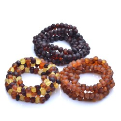 15 Raw Baltic Amber Bracelets - Amber Bracelets wholesale - amber wholesale - Authentic Genuine Baltic Amber beads