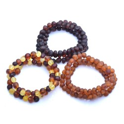 9 Raw Baltic Amber Bracelets - Amber Bracelets wholesale - amber wholesale - Authentic Genuine Baltic Amber beads