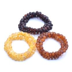 Amber Bracelets Wholesale - 9 Raw Bracelets - Authentic Baltic Amber Unisex Bracelets
