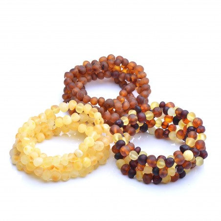 Genuine Baltic Amber Wholesale - 15 Raw Amber Bracelets - 100% Authentic BAltic amber