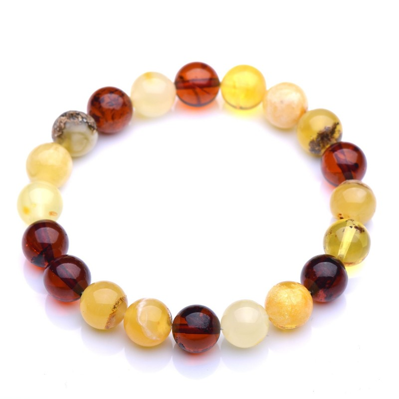 An Exclusive Amber Bracelet for Woman - Vintage Bracelet - One and Only Unit - Certified