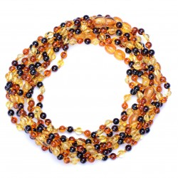 Amber Wholesale - 10 Hand Made Baltic Amber Teething Necklaces for Babies - Safety Knotted - Rounded - Best Amber Quality