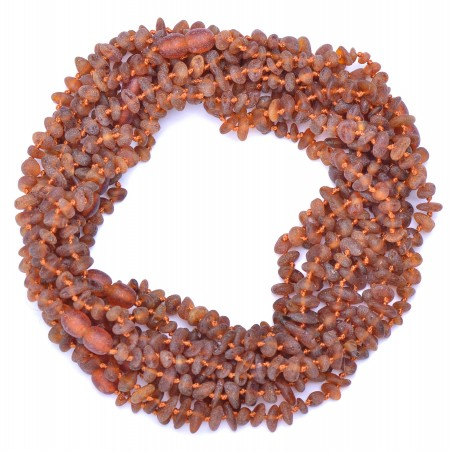 Amber Wholesale - Hand Made Baltic Amber Teething Necklaces for Babies - Safety Knotted - Not Polished- Genuine Amber