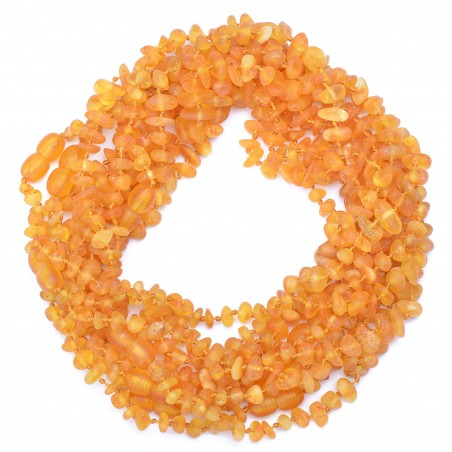 Amber Wholesale - Raw Handmade Baltic Amber Teething Necklaces for Babies - Safety Knotted - Genuine Amber