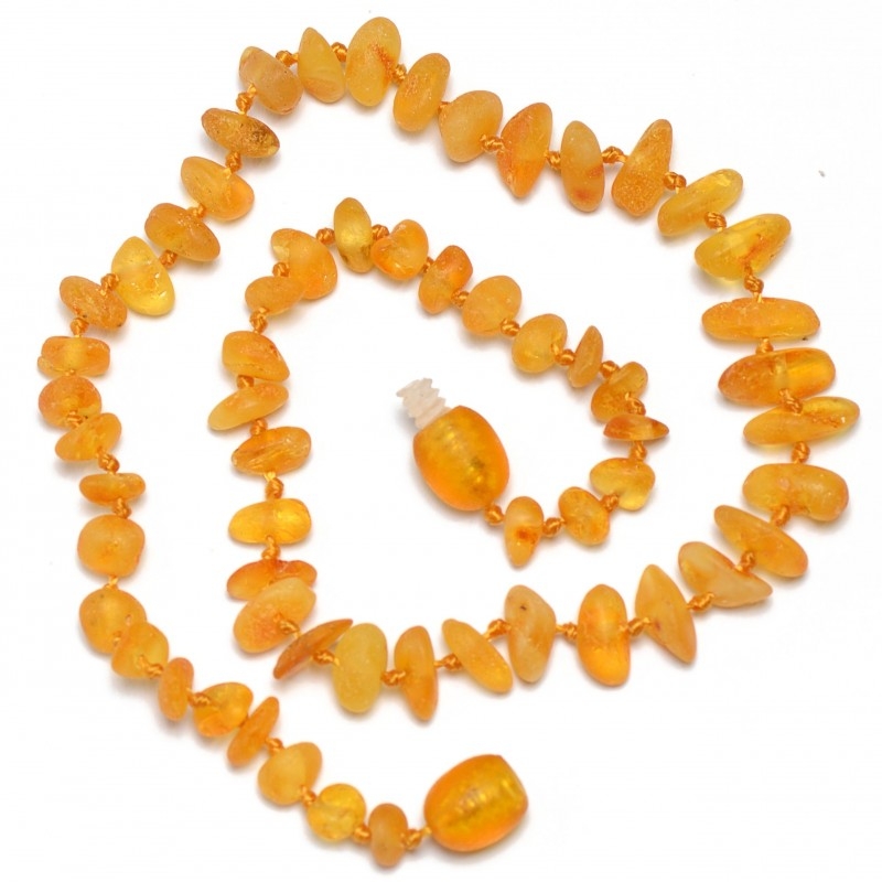 Amber Wholesale - Raw Hand Made Baltic Amber Teething Necklaces for Babies - Safety Knotted - Genuine Amber