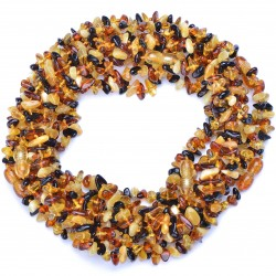 Amber Wholesale - Multicolored Handmade Baltic Amber Teething Necklaces for Babies - Safety Knotted - Genuine Amber