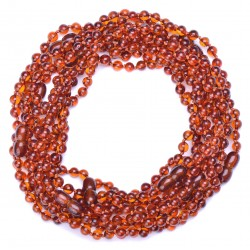 Amber Wholesale - 10 Handmade Baltic Amber Teething Necklaces for Babies - Safety Knotted - Rounded - Best Quality Necklace