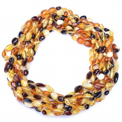 Colorful Genuine handmade Baltic Amber Teething Necklaces for Babies - Safety Knotted - Amber Wholesale