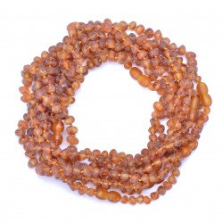 Amber Wholesale - Baltic Amber Handmade Teething Necklaces for Babies - Safety Knotted - Genuine Amber - Not Polished