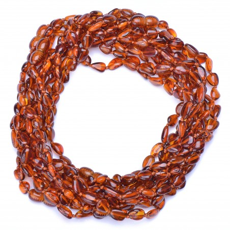 Amber Wholesale - Handmade Baltic Amber Teething Necklaces for Babies - Safety Knotted