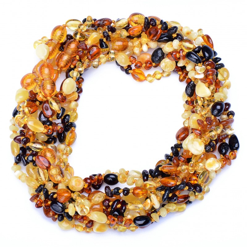 Amber Wholesale - True Baltic Amber Teething Necklace for Babies - Safety Knotted - Genuine Amber