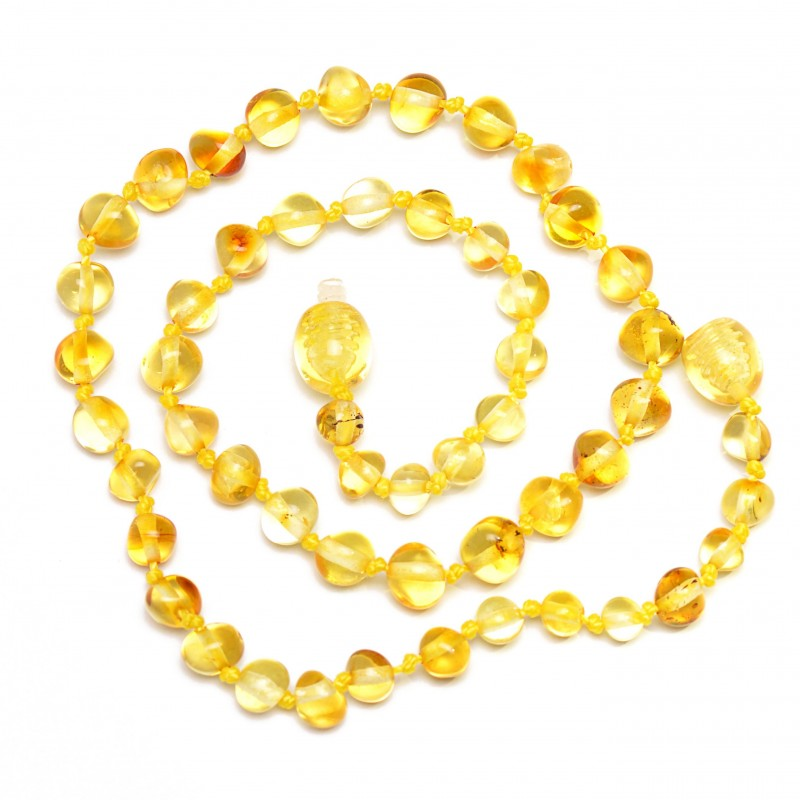 Amber Wholesale - Handmade Baltic Amber Teething Necklaces for Babies - Safety Knotted - Genuine amber