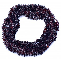 Amber Wholesale - Handmade Baltic Amber Teething Necklaces for Babies - Safety Knotted - Dark cherry
