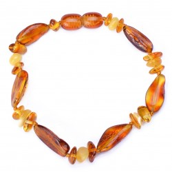 Casual Handmade Baltic Amber Bracelet for Adult - 100% Genuine Amber Beads