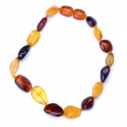 Colorful and casual handmade Amber Bracelet for Adult - 100% Genuine Baltic Amber Beads