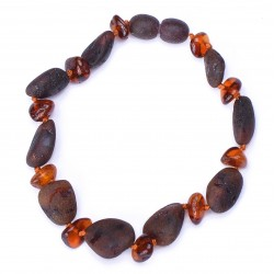 Stylish Baltic Amber handmade Bracelet for Adult - 100% Genuine Amber Beads