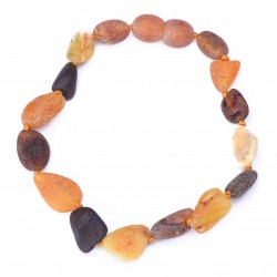 Raw handmade Amber Bracelet for Adult - 100% Genuine Raw Baltic Amber Beads