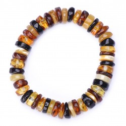 Stylish Healing Amber handmade Bracelet for Adult - 100% Genuine Raw Baltic Amber Beads