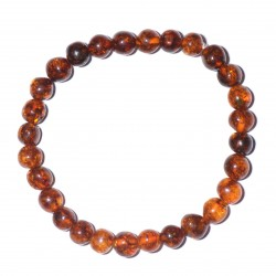 Handmade casual Cognac Amber Bracelet for Adult - 100% Genuine Amber Beads