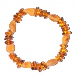 Handmade Stylish amber Bracelet for Adult - 100% Genuine Raw Baltic Amber Beads
