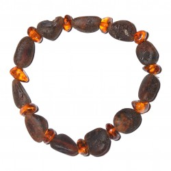 Stylish handmade amber Bracelet for Adult - 100% Genuine Raw Baltic Amber Beads