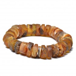Unique Vintage Amber Bracelet - Unisex Amber Bracelet - 100% Raw Amber - Certified Handmade Amber Jewelry