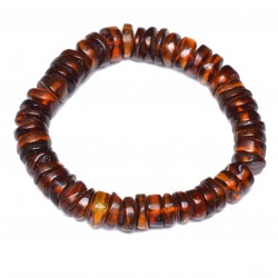 Exclusive Baltic Amber Bracelet for Woman - Unique Bracelet Unisex - Certified Genuine Baltic Amber - Elastic