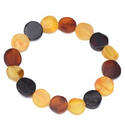 Colorful Women Amber Bracelet - Handmade Baltic Amber Jewelry - 100% Raw Amber beads - Certified Baltic Amber