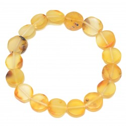 Lemon Amber Bracelet for Woman - Certified Genuine Baltic Amber - Handmade Jewelry
