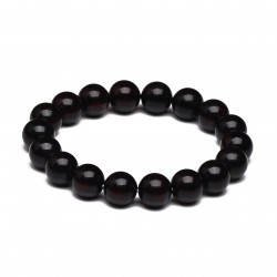 Unisex Modern Amber Bracelet - Correct Spherical Form Beads - Certified Genuine Baltic Amber