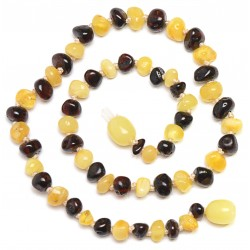 Handmade Baltic Amber Teething Necklace for your Baby - Safety Knotted