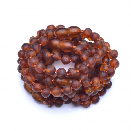 Handmade Amber Teething Bracelet Wholesale - 10 Bracelets/Anklets for Baby - Safety Knotted - Genuine Baltic Amber