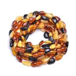 Amber Bracelets Wholesale - 10 Colorful Amber Bracelets - handmade Authentic Baltic Amber Bracelets