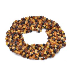 Colorful and Stylish Amber Necklace for Adult - 100% Genuine Amber Beads