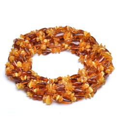 Colorful Amber Necklace for Adult - 100% Genuine Amber Beads