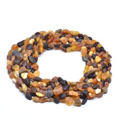 Vintage Casual Amber Necklace for Adult - 100% Genuine Amber Beads
