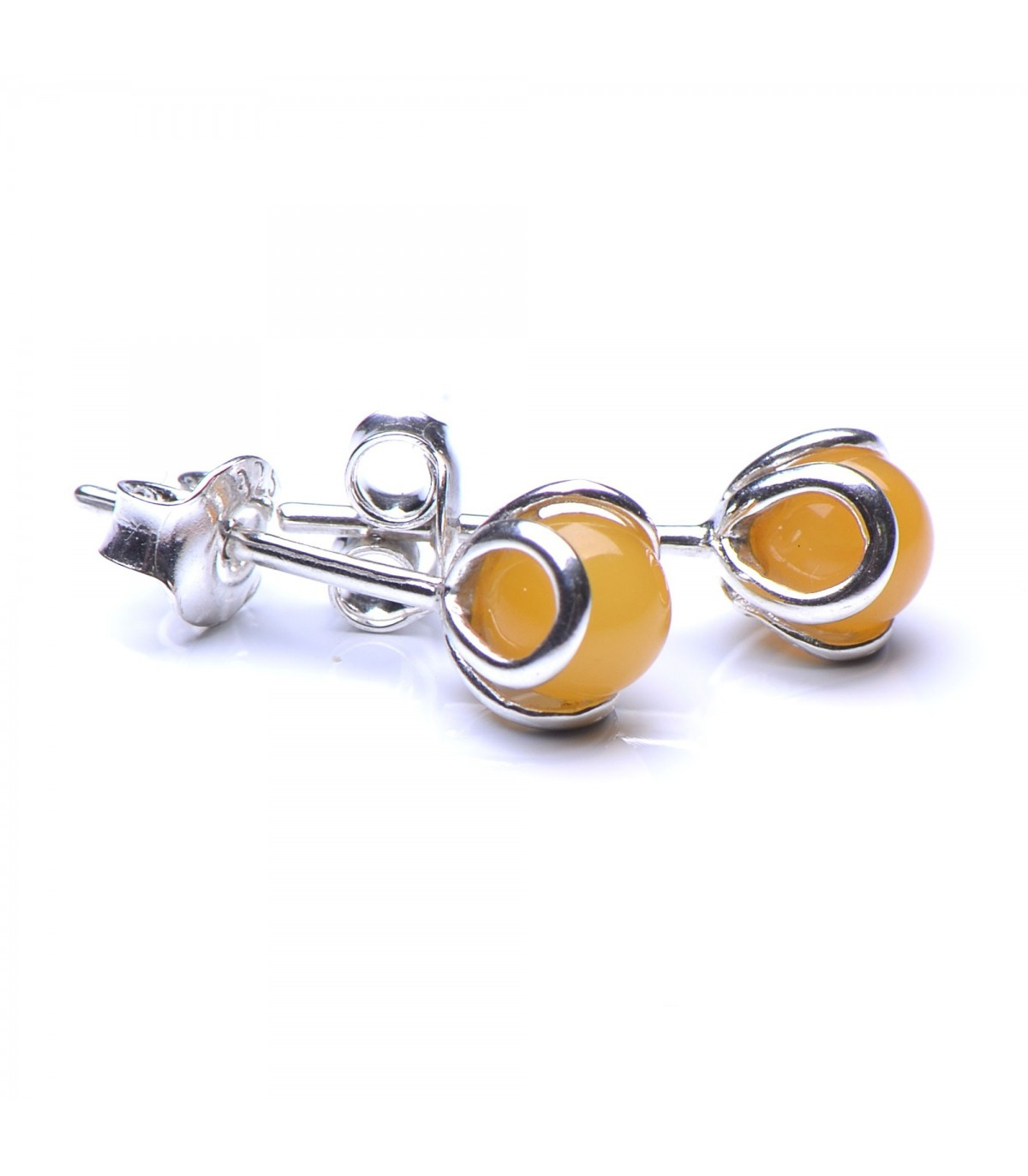 959ba91e6 Butterscotch Baltic Amber & Sterling Silver Stud Earings - Genuine ...