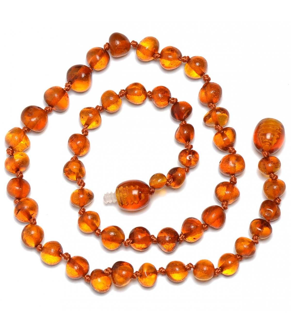 10 pcs of Baltic Amber Baby Necklaces Made With Raw Multicolor Amber and Turquoise Beads Amber Wholesale LOT
