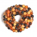 Amber Wholesale - 10 handmade Amber Teething Bracelets - Anklets for Babies - Safety Knotted - Raw Genuine Baltic Amber