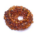 Handmade Amber Teething Bracelet - Anklet for Baby - On rubber - Genuine Baltic Amber